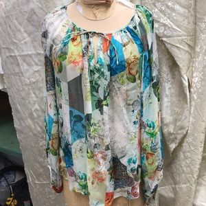 Floral printed blouse size 10